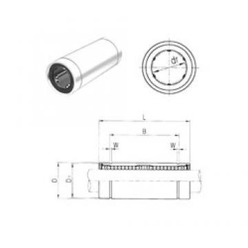 40 mm x 60 mm x 121 mm  Samick LM40LUU linear bearings