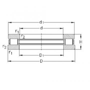 NKE 81128-TVPB thrust roller bearings