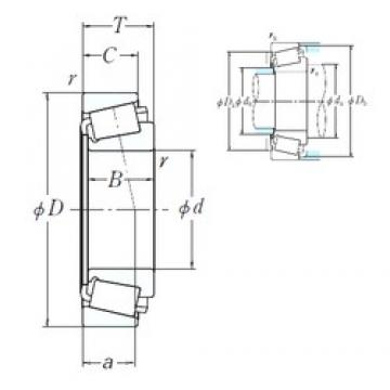 200,025 mm x 384,175 mm x 112,712 mm  NSK H247535/H247510 cylindrical roller bearings
